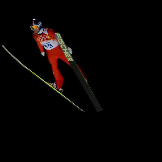 """Olympic Ski Jumping"" stock image"