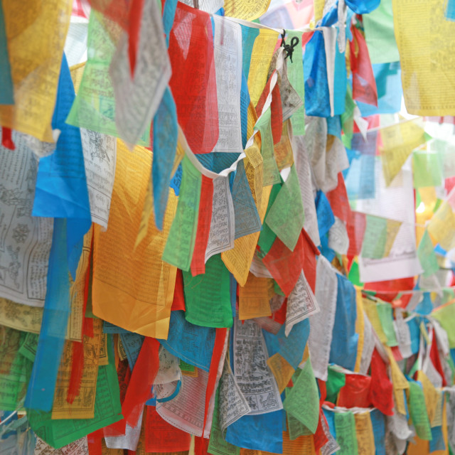 """Prayer Flags"" stock image"
