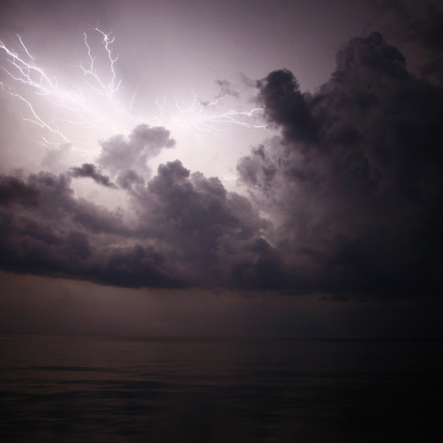 """Lightning in the Philippines"" stock image"