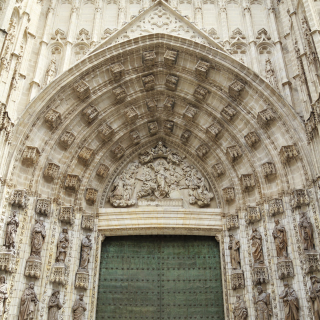 """""""Gate to Sevilla Cathedral"""" stock image"""
