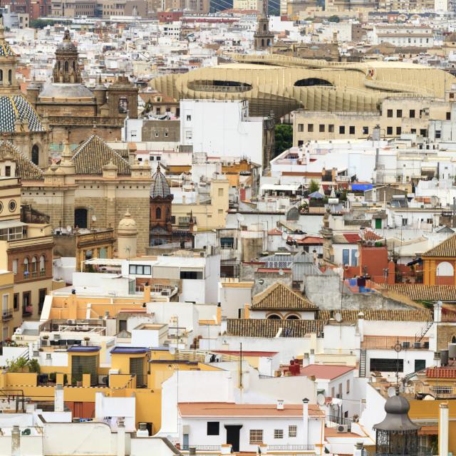 """Cityscape of Seville"" stock image"