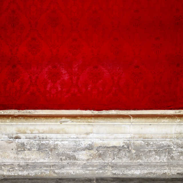 """Empty red room"" stock image"
