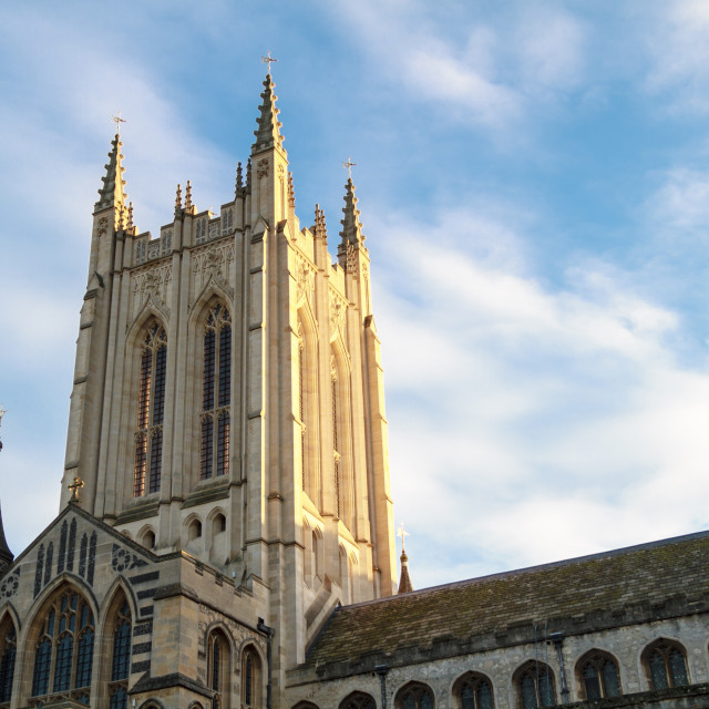 """""""Bury St Edmunds cathedral tower"""" stock image"""