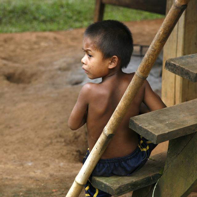 """Boy in Laos"" stock image"