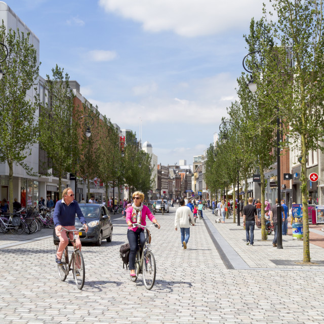 """New shopping street"" stock image"