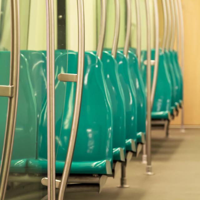 """""""Empty metro train 1"""" stock image"""