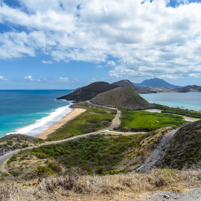 """St. Kitts - Where Ocean meets the Sea"" stock image"