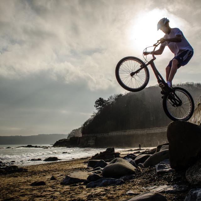 """""""Beach Biking"""" stock image"""