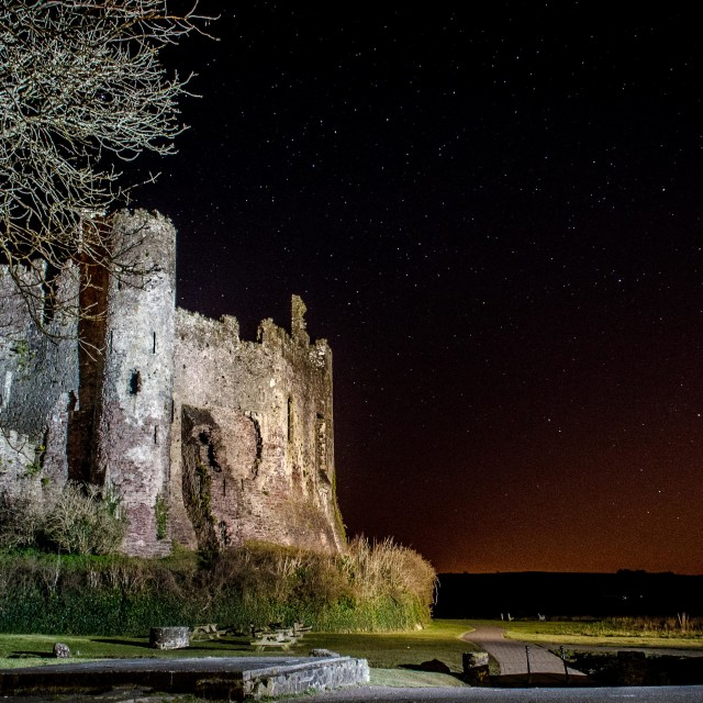 """""""Laugharne At Night"""" stock image"""
