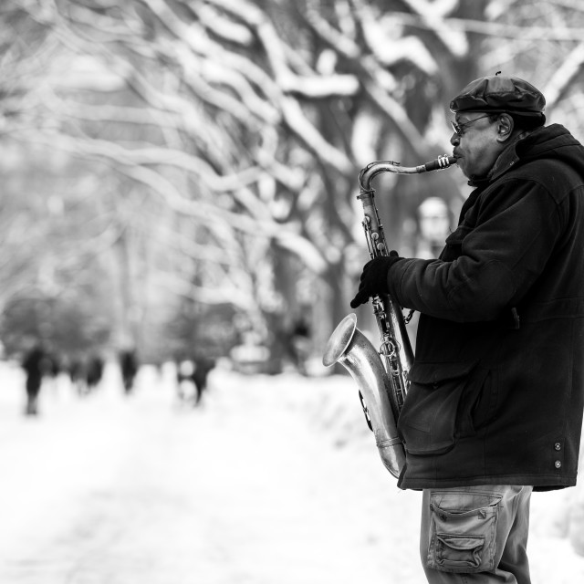"""Sax And The City"" stock image"
