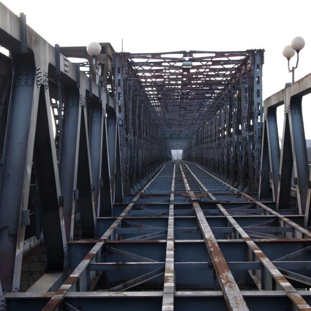 """""""Broken Bridges"""" stock image"""