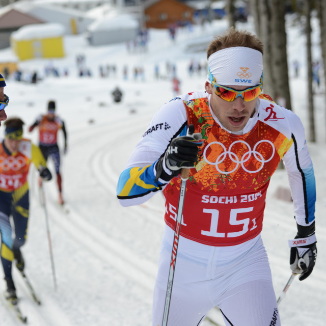 """""""Olympic Cross Country Skiing"""" stock image"""