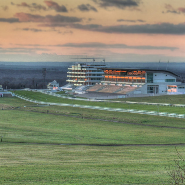 """Racecourse sunset"" stock image"