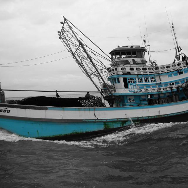 """""""Fisherman's Boat"""" stock image"""