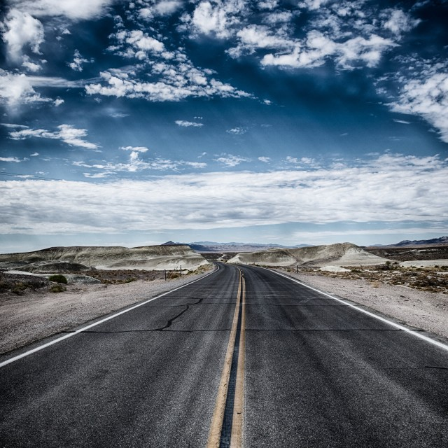 """Arizona Road to Nowhere"" stock image"
