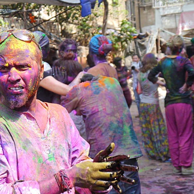 """Holi man"" stock image"