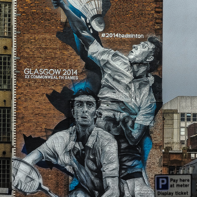 """Commonwealth Games Mural"" stock image"