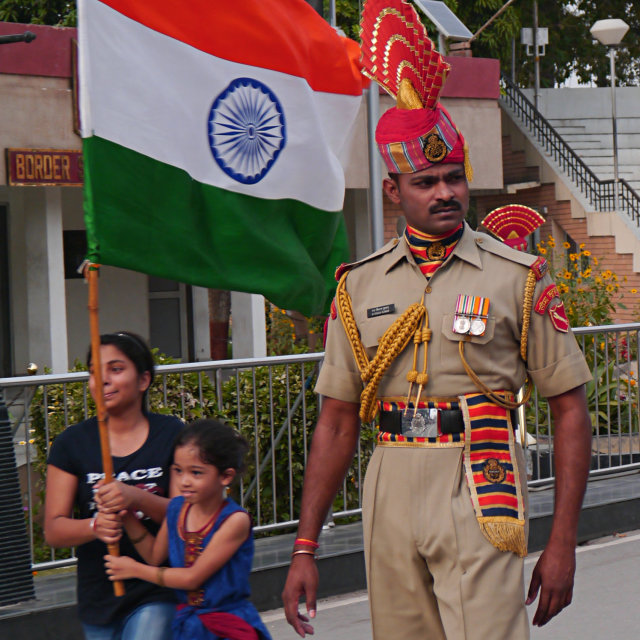 """Patriotic Indian Soldier"" stock image"