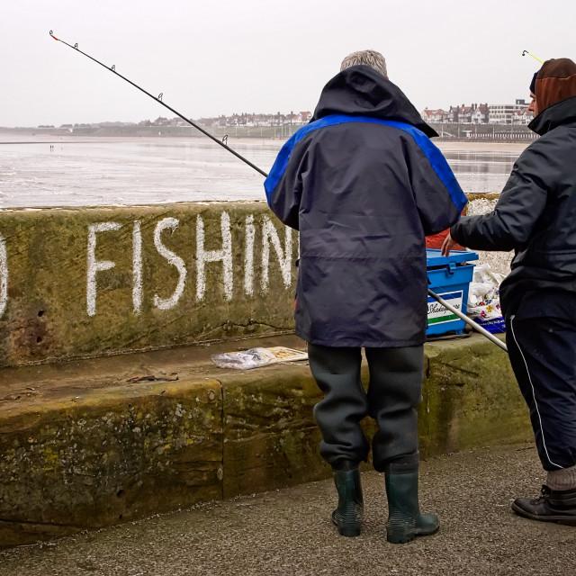 """No Fishin"" stock image"