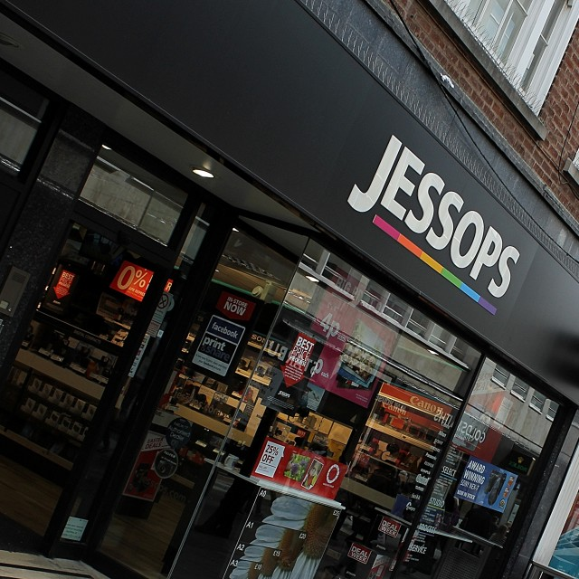 """jessops Clumber Street City Centre nottingham"" stock image"