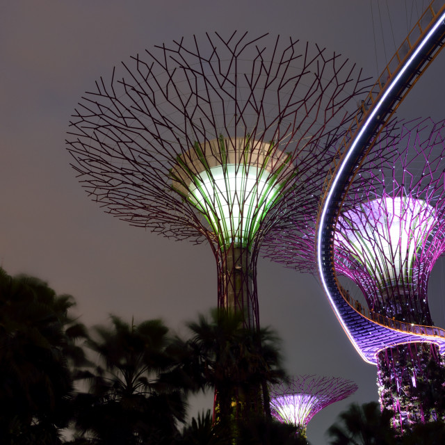 """""""Garden by the Bay"""" stock image"""
