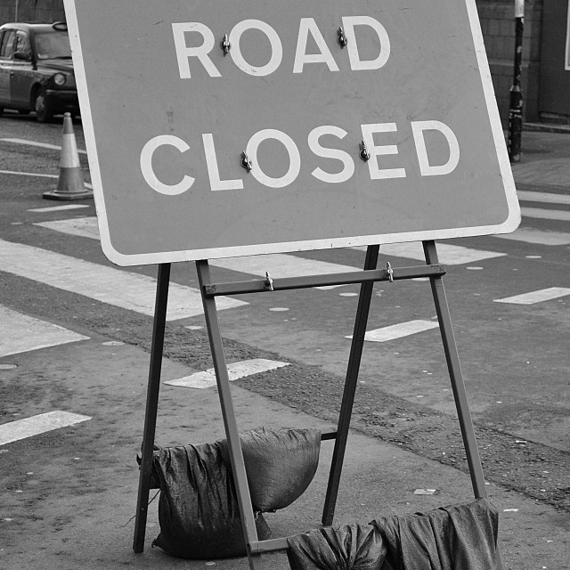 """""""road closed sign"""" stock image"""