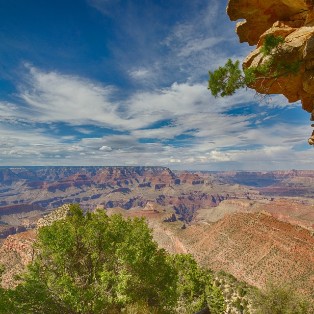 """Grand Canyon Vista Landscape South side"" stock image"