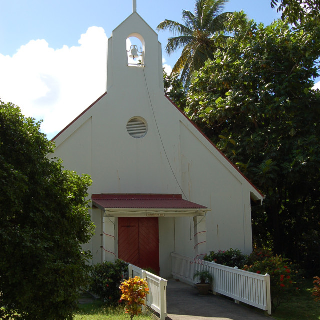 """Old Church - St. John, Virgin Islands"" stock image"