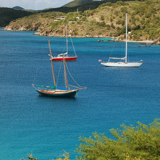 """Coral Bay, St. John, Virgin Islands"" stock image"