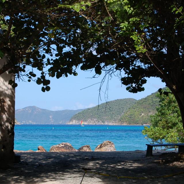 """Cinnamon Bay - St. John, VI"" stock image"