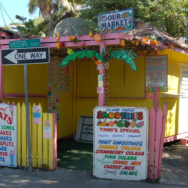 """Fruit Stand - Virgin Islands"" stock image"