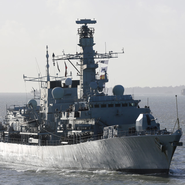 """HMS Richmond Returns"" stock image"