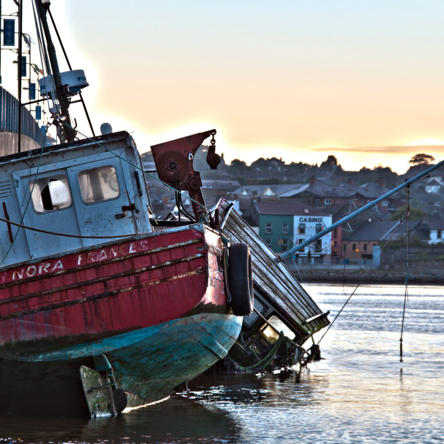 """""""Resting Boats Wexford Quay"""" stock image"""