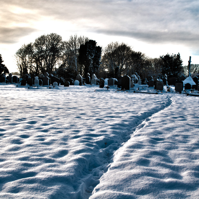 """Winter Graveyard"" stock image"