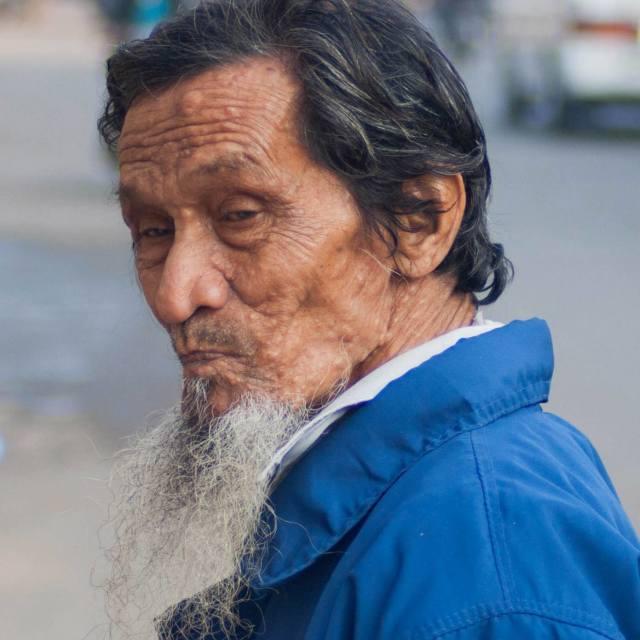 """Man on the street, Burma"" stock image"