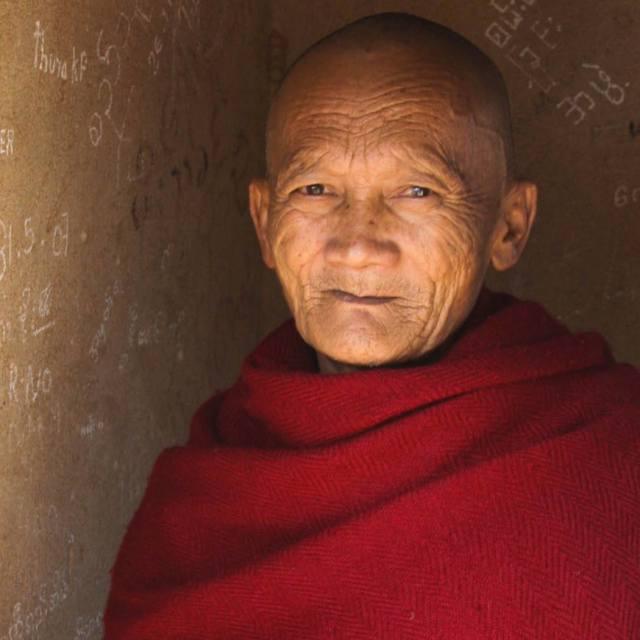"""Monk in Myanmar"" stock image"