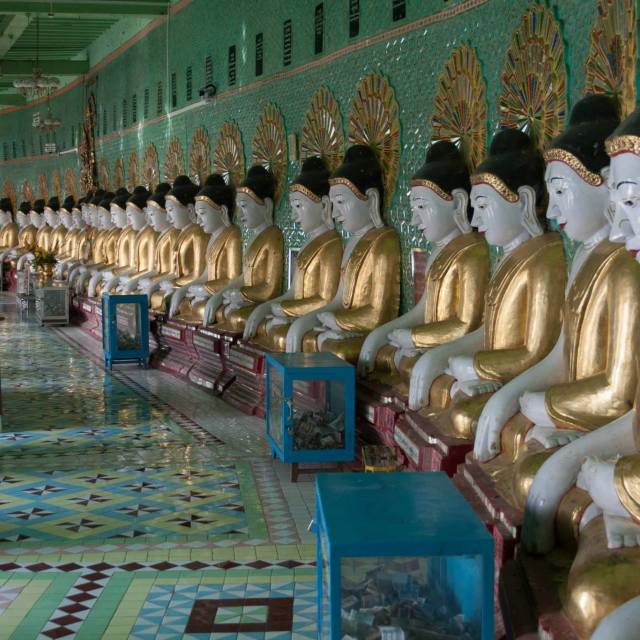 """Buddhas in Burma"" stock image"