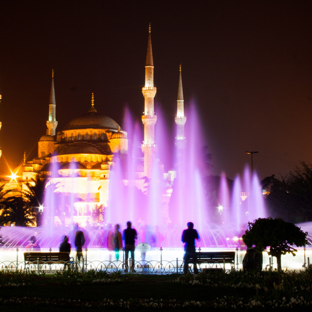 """""""Blue Mosque at night, Istanbul"""" stock image"""