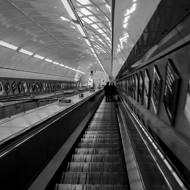 """Underground Escalator"" stock image"