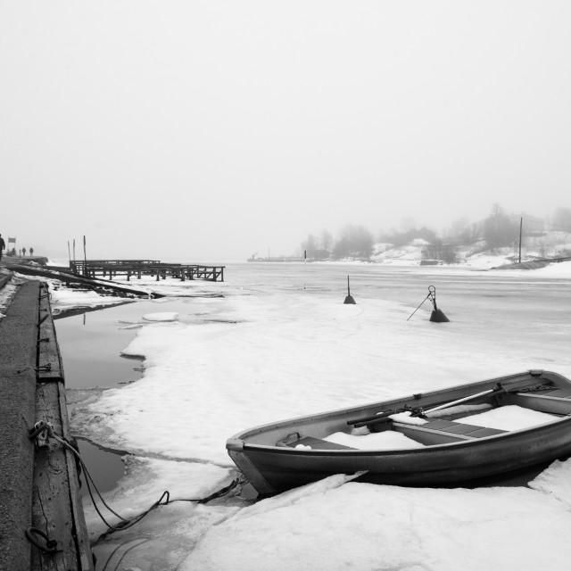 """""""Boat in ice"""" stock image"""