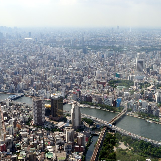 """Tokyo from above"" stock image"