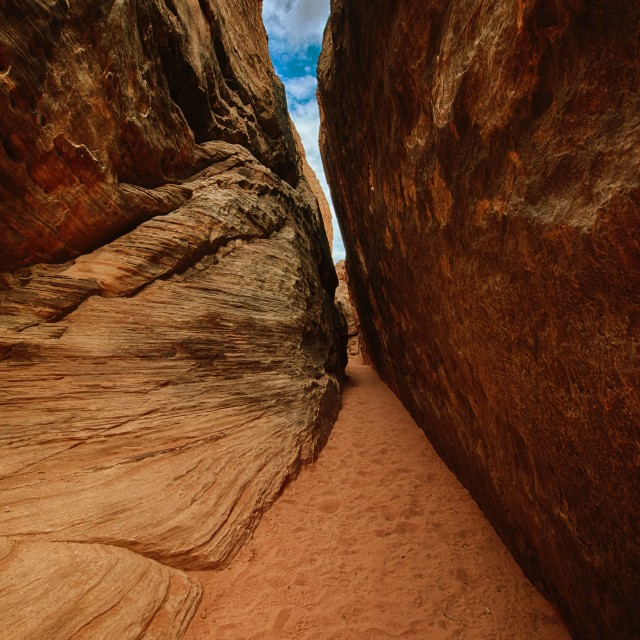 """Red Rock Canyon narrow exit"" stock image"