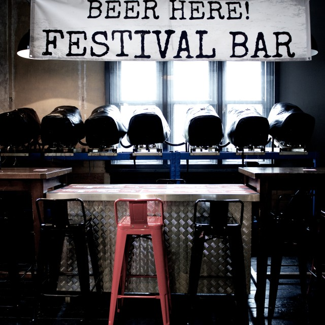 """Empty Festival Bar"" stock image"