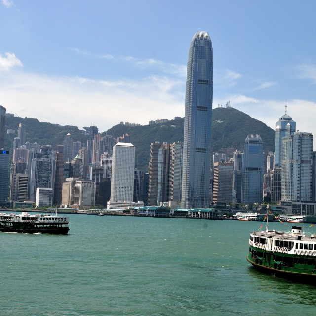 """Hong Kong Bay"" stock image"