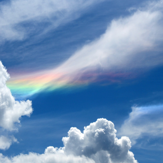 """Rainbow Cloud"" stock image"