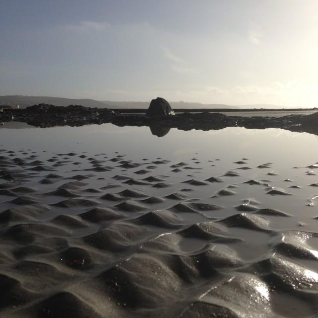"""""""Cornish beach"""" stock image"""