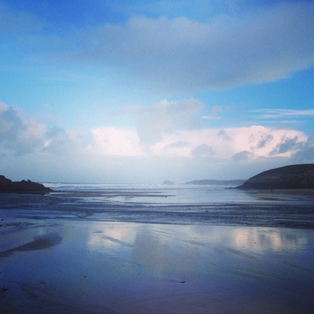 """Morning Cornwall"" stock image"