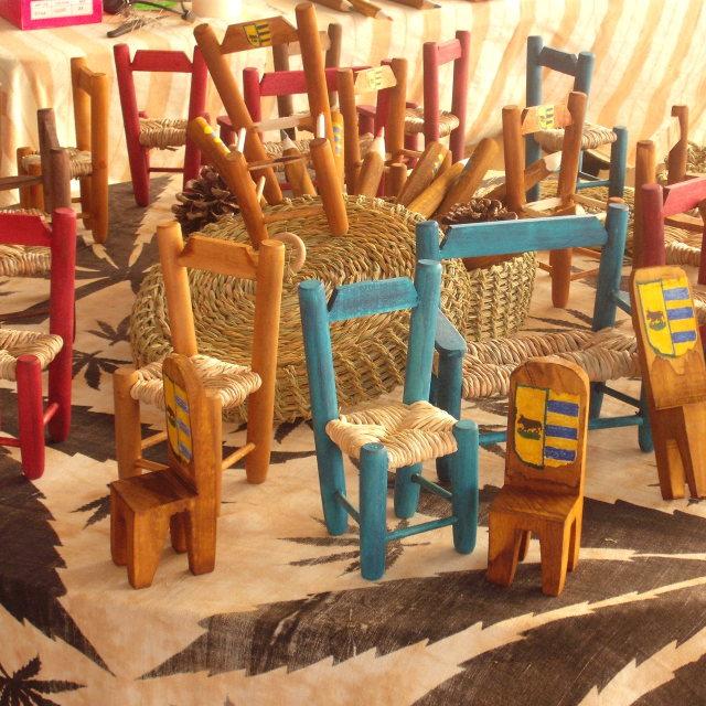 """Small Seats At The Porrat"" stock image"