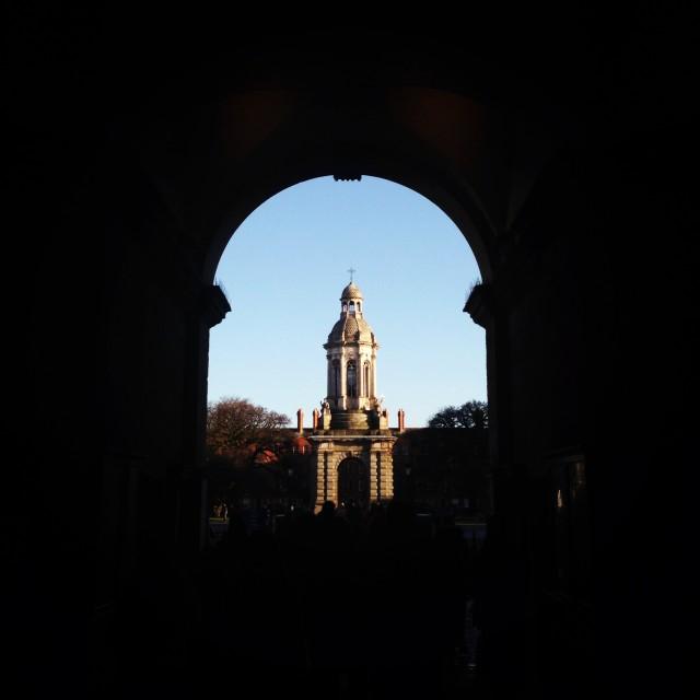 """Trinity college, Dublin"" stock image"