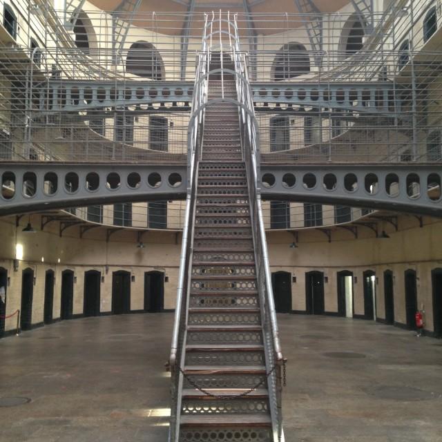 """Dublin prison"" stock image"